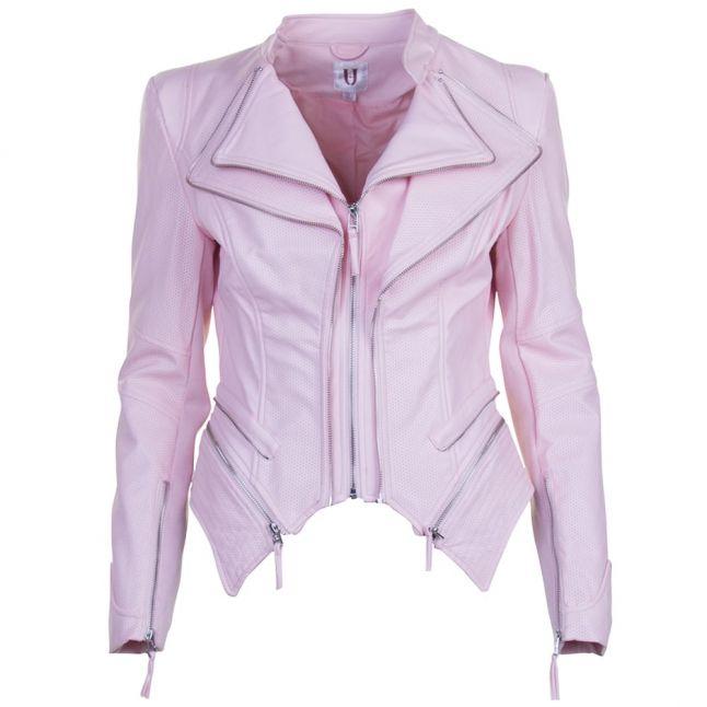 Womens Pale Pink Pulp PU Jacket