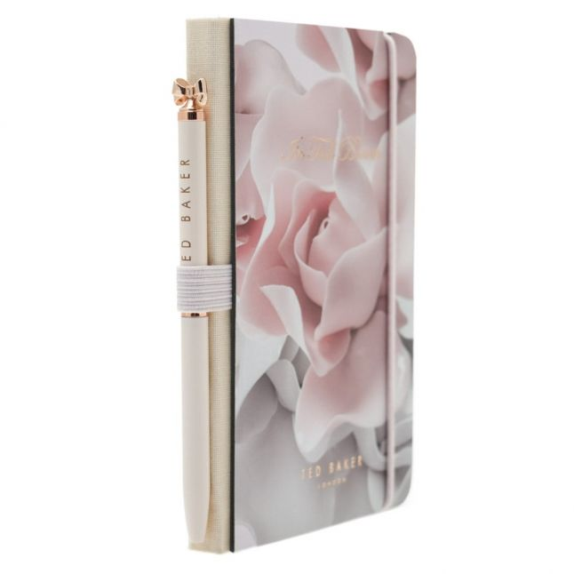 Womens Porcelain Rose Mini Notebook & Pen