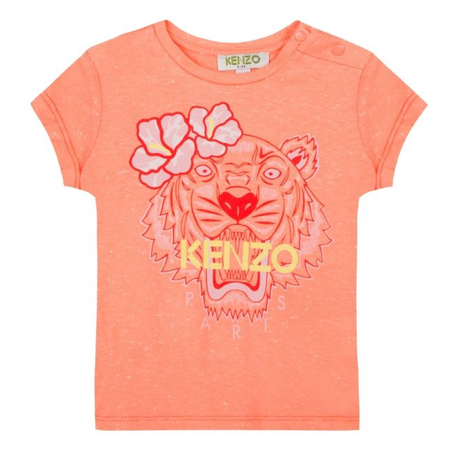 Junior Apricot Flower Tiger S/s T Shirt