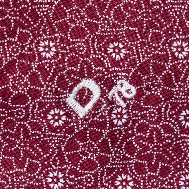 Mens Burgundy S-Blanca L/s Shirt