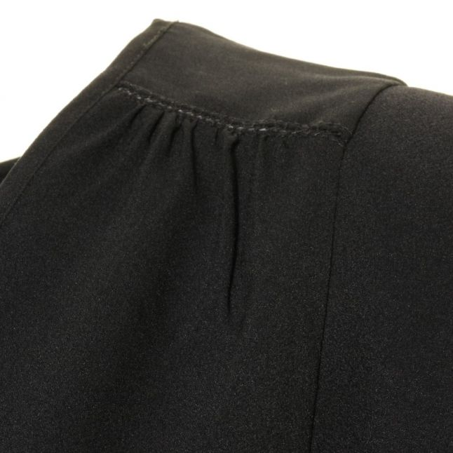 Womens Black Polly Plains Cap Sleeve Tee Shirt