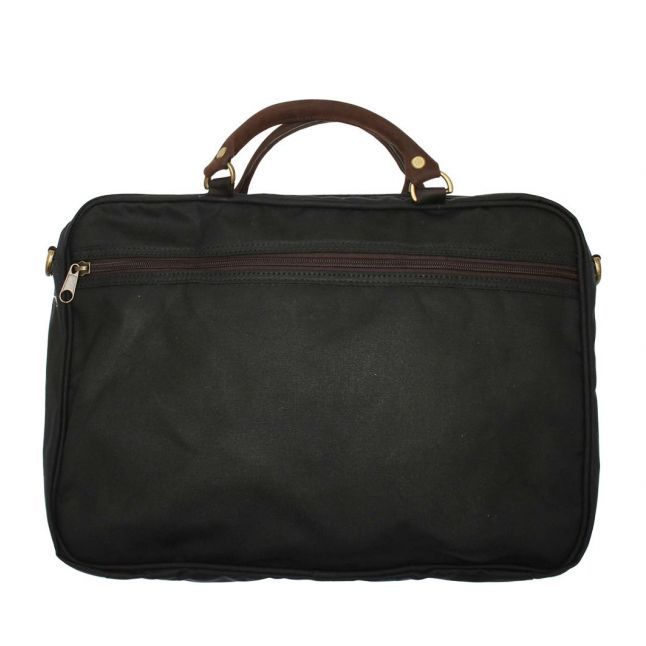 Mens Navy Wax Leather Briefcase