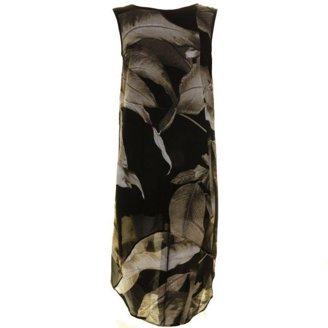 Womens Jet Black Myth Maxi Dress