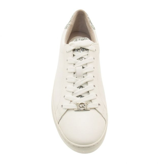 Womens White & Silver Irving Trainers
