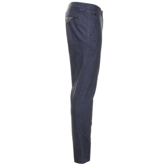 Mens Blue Lommy Classic Fit Trousers