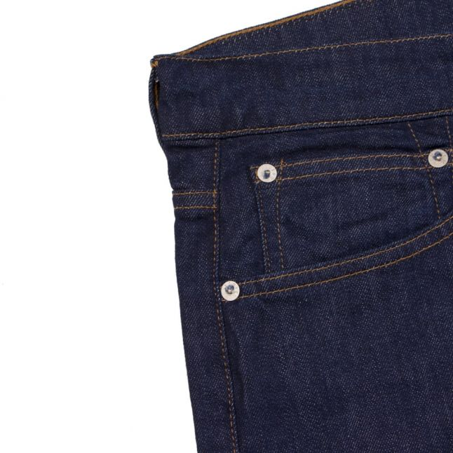 Mens 11.5oz Rinsed ED80 Slim Fit Tapered CS Power Blue Jeans