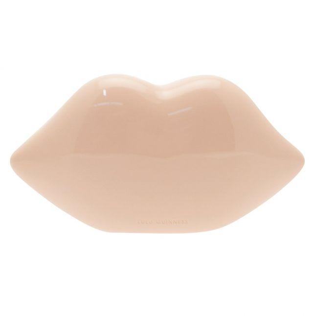 Womens Dusky Pink Perspex Lips Clutch Bag