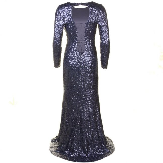 Womens Grey Vita Sequin Maxi Dress