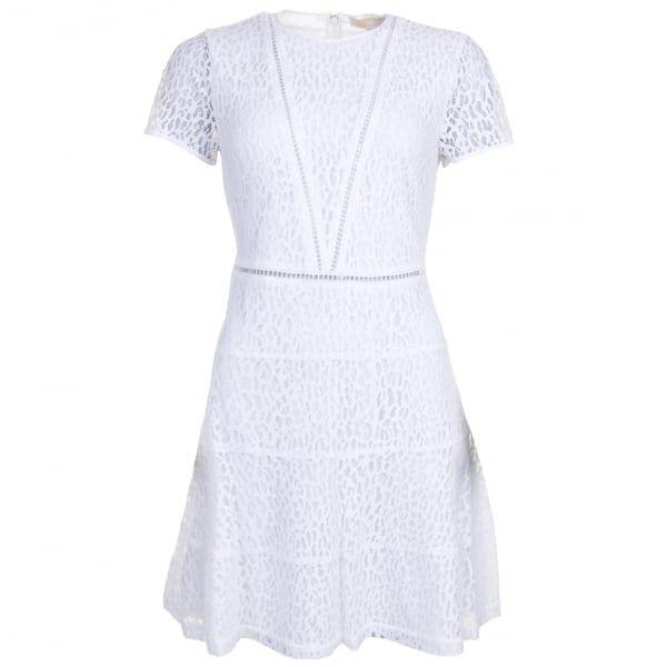 Womens White Yala Lace Skater Dress