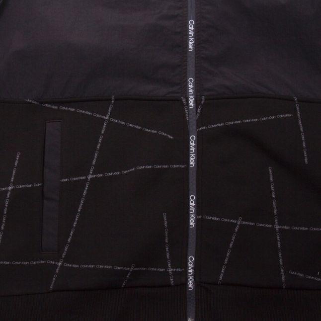 Mens Black Broken Logo Zip Through Jacket