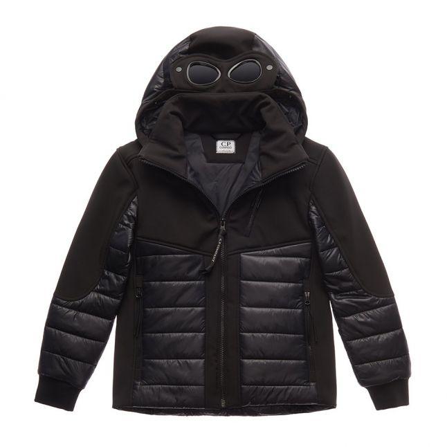 Boys Black Padded Hybrid Goggle Hooded Jacket