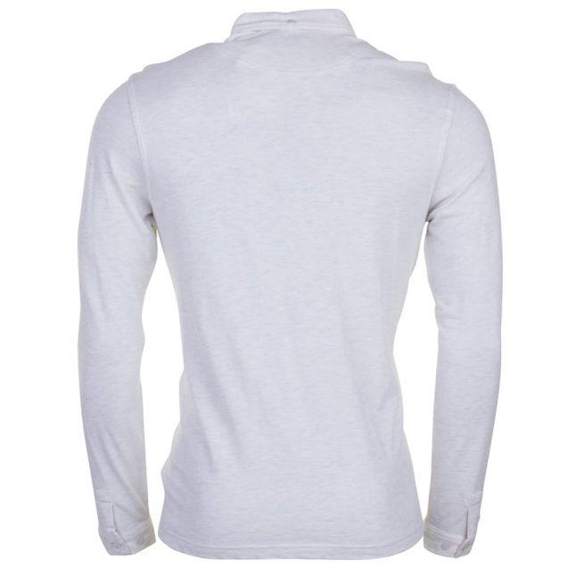 Mens Chalk Marl Merriweather L/s Polo Shirt