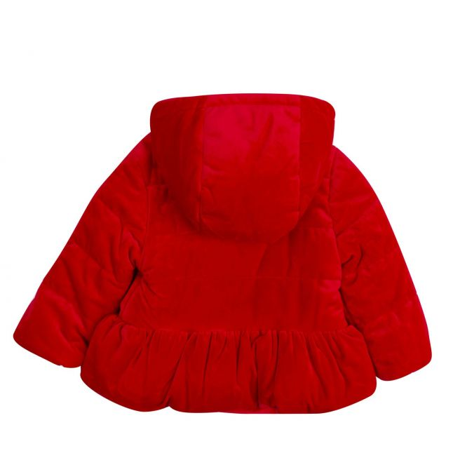 Infant Red Velvet Hooded Coat