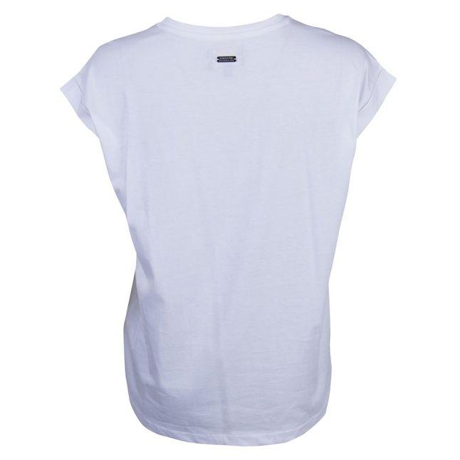 Womens White Rearset S/s Tee Shirt