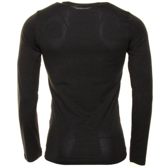 Mens Black Small Logo Extra Slim Fit L/s Tee Shirt