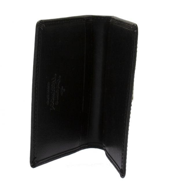 Womens Black Anna Leather Card Holder