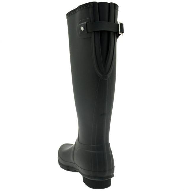 Womens Black Original Back Adjustable Tall Wellington Boots