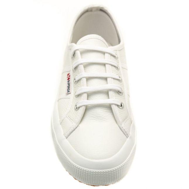 Womens White 2750 Efglu Leather Trainers
