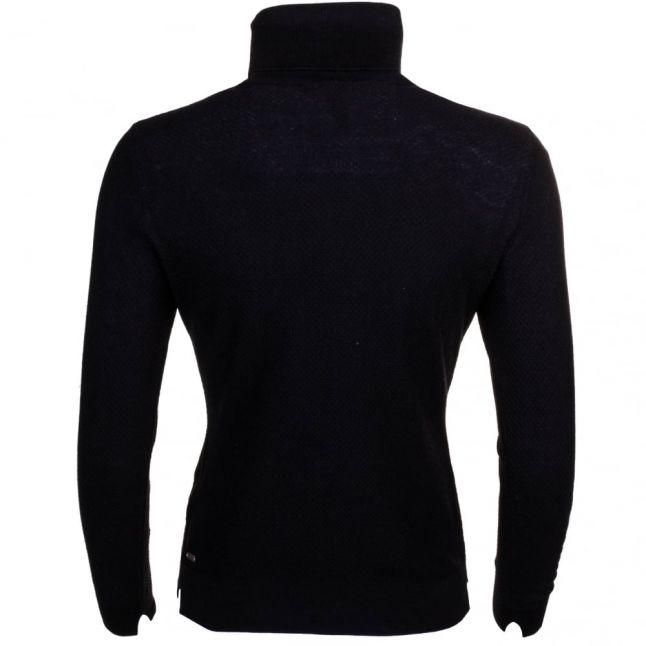 Womens Black Iddy Roll Neck Knitted Jumper