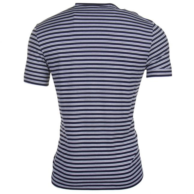 Mens Marine Striped Regular Fit S/s Tee Shirt