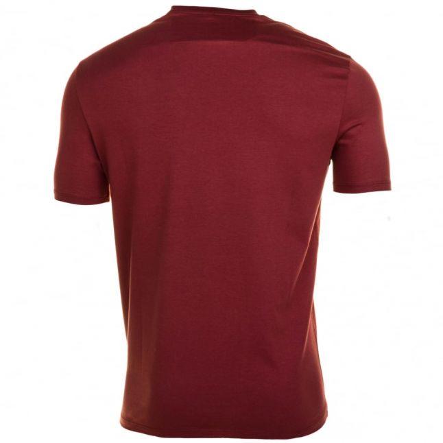 Mens Red Eagle Box Logo Regular Fit S/s Tee Shirt