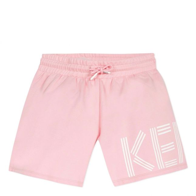 Girls Bubblegum Pink Logo Sweat Shorts