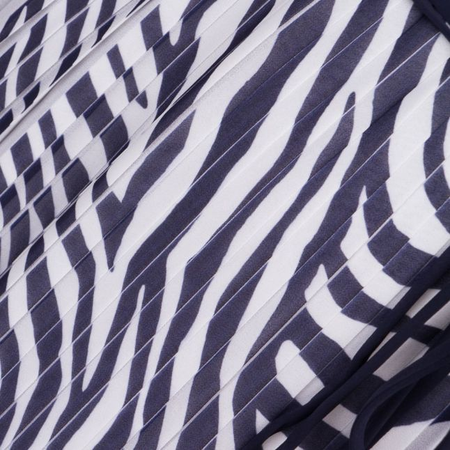 Womens True Navy Plains Zebra Maxi Dress