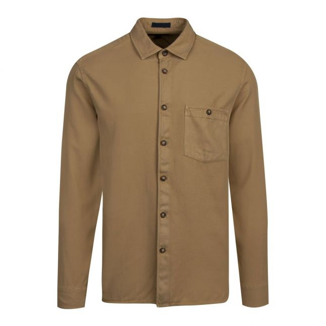 Mens Beige Brewin Relaxed Fit L/s Overshirt