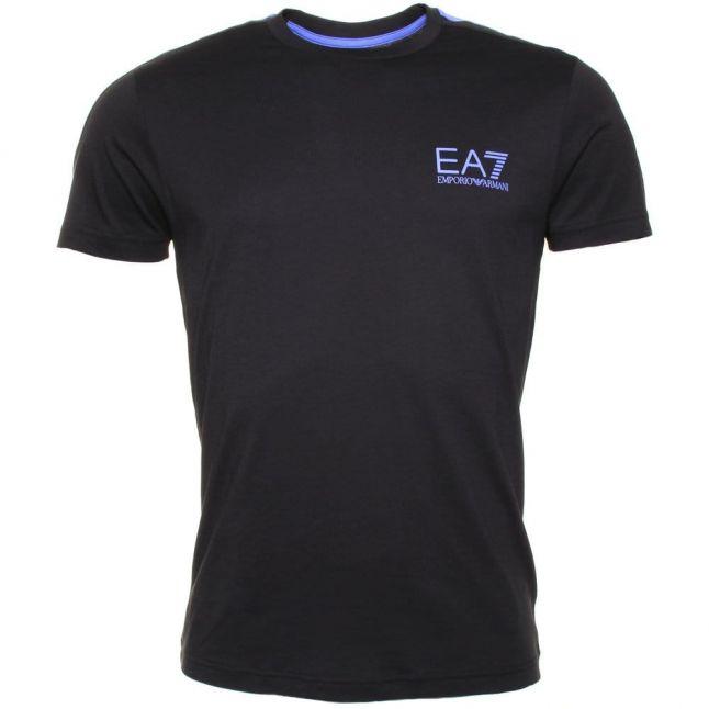 Mens Black Training 7 Lines S/s Tee Shirt
