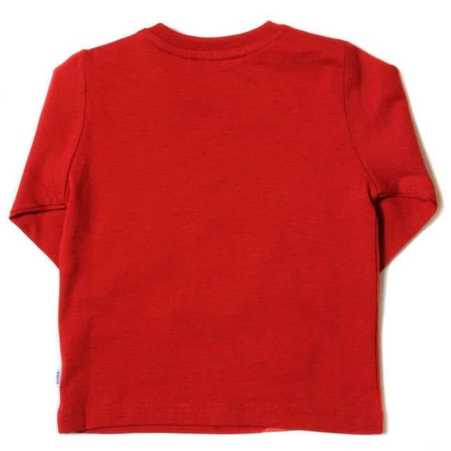 Baby Red Branded L/s Tee Shirt