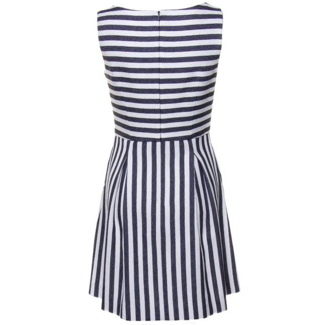 Womens Blue Striped Dress