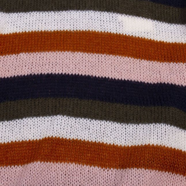 Womens Pumpkin Spice Vilanamo Stripe Knitted Jumper