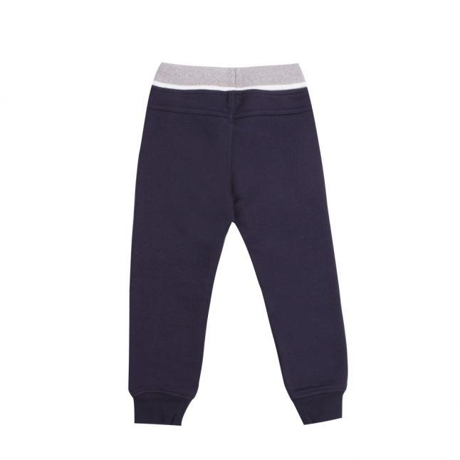 Boys Navy Branded Sweat Pants