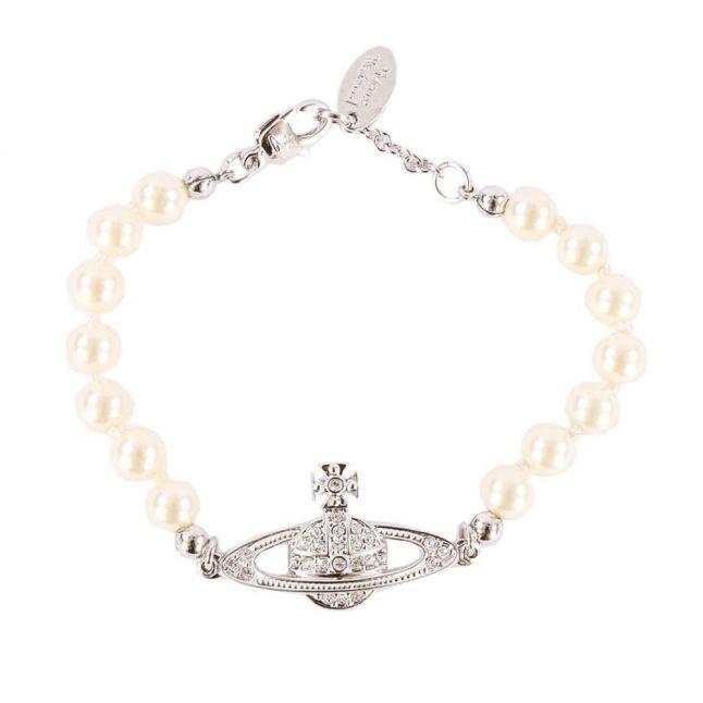 Womens Ivory & Silver Mini Bas Relief Bracelet
