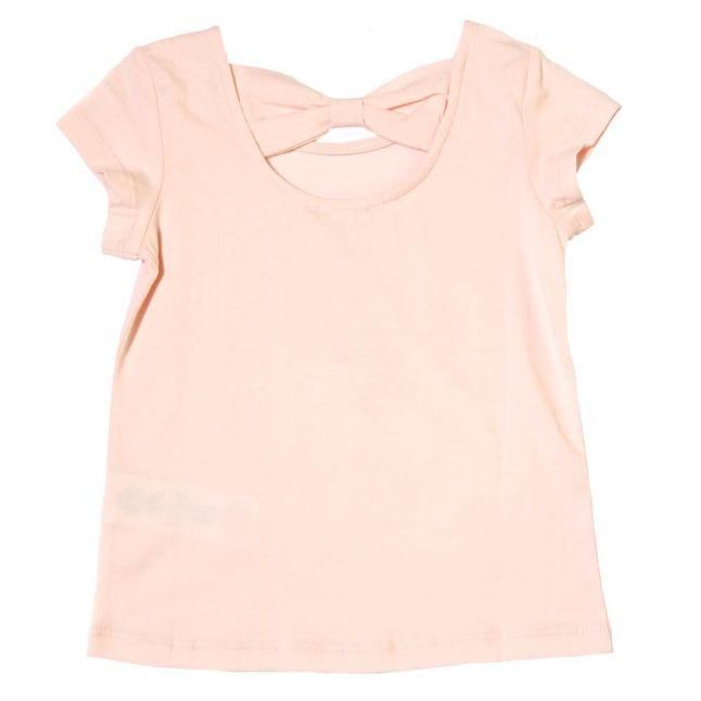 Girls Pink Cat S/s Tee Shirt