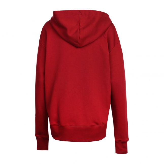 Womens Red Dreali Hooded Sweat Top