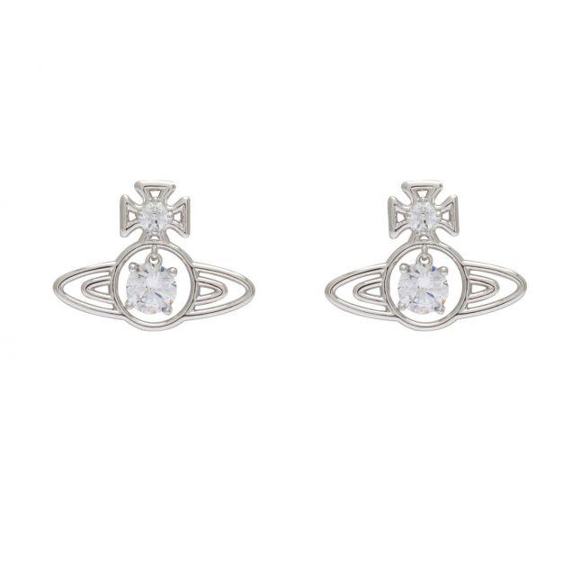 Womens Silver/White Sheila Earrings