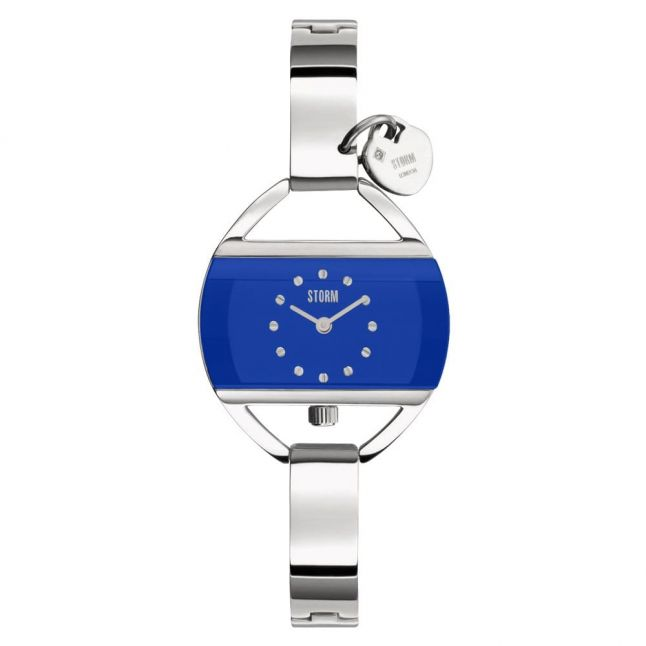 Womens Lazer Blue Temptress Charm Watch