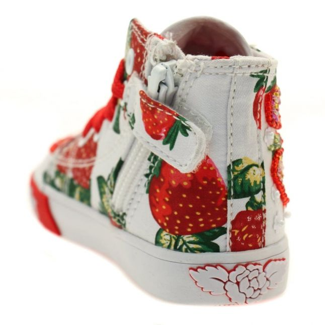 Baby White Strawbery Mid Trainers (19-23)