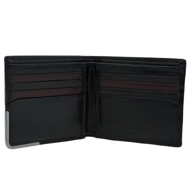 Mens Black Breeze High Shine Leather Wallet