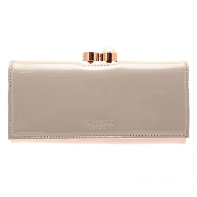 Womens Light Grey Cecilie Patent Purse