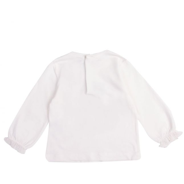 Infant Cream/Red Girl + Bow L/s T Shirt