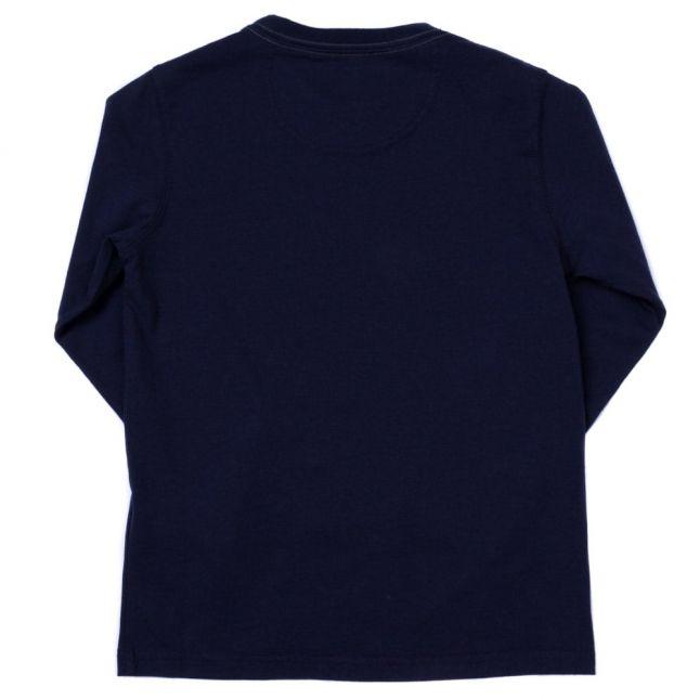 Boys Navy Biker L/s Tee Shirt