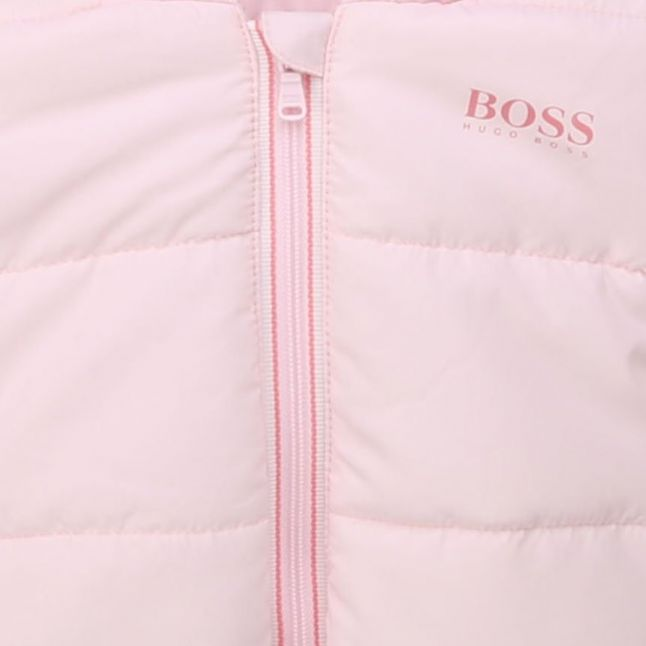 BOSS Baby Pale Pink Branded Padded Jacket