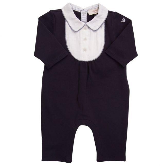 Baby Blue Collar Romper