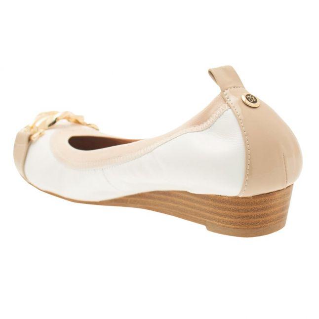 Womens White And Nude Eleena Ballerina Shoes