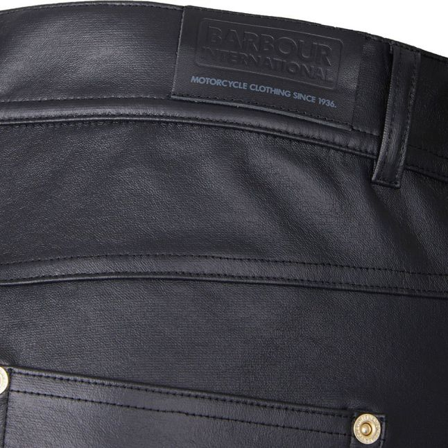Womens Black Goodwood PU Trousers