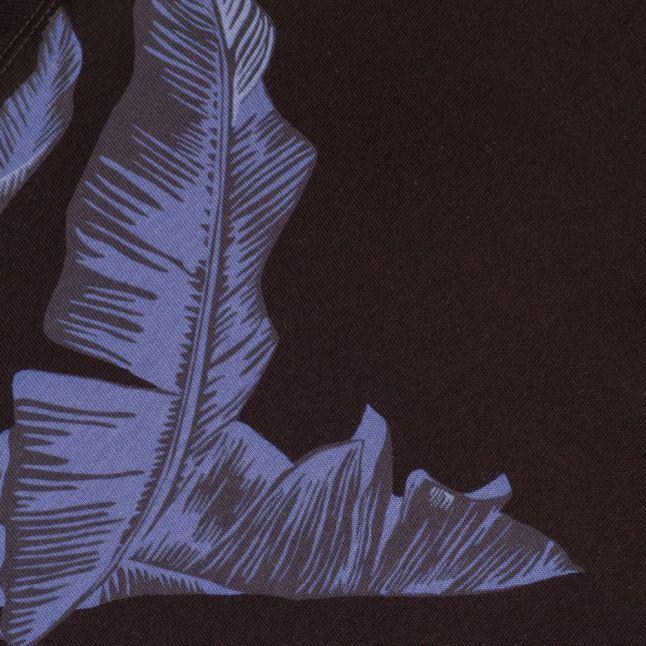 Mens Black T-Diego-Mn Palm Print S/s Tee Shirt