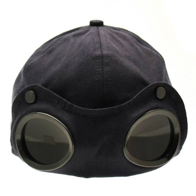 Boys Navy Goggle Cap