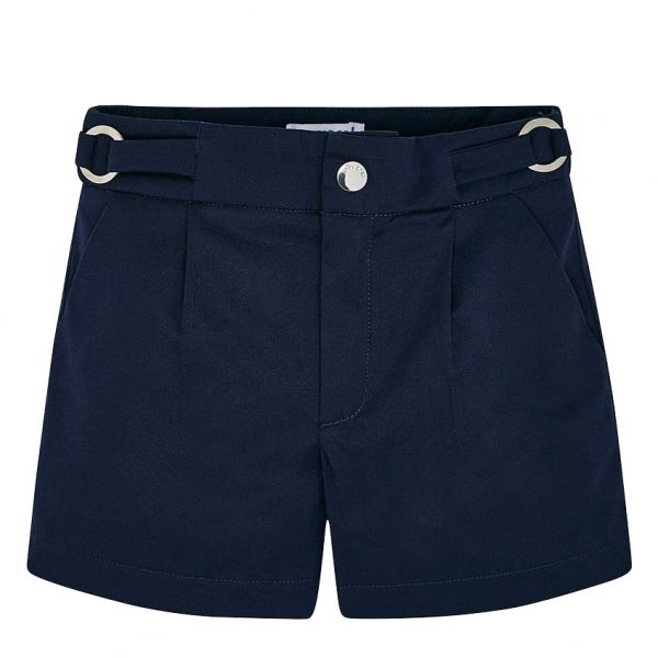 Girls Navy Basic Smart Shorts